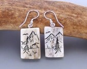 Caribou Antler Earrings – A North Woods Scene