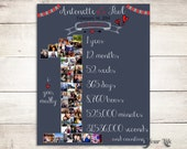 1ST ANNIVERSARY, Anniversary Photo Collage,  Anniversary Gift for boyfriend,  Anniversary Gift for girlfriend, First Anniversary Mothers Day