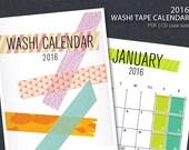 2016 PRINTABLE Washi Tape Wall Calendar