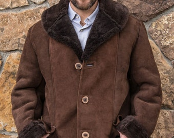 Mens Sheepskin Cattleman Coat