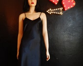 LaSoie- Sexy Black SILK Nightgown- Small