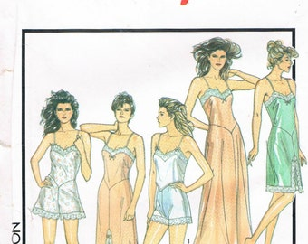 Style Pattern No. 1465 - Misses' Slip, Nightgown, Cami - Knickers, French Knickers & Camisole, 1988