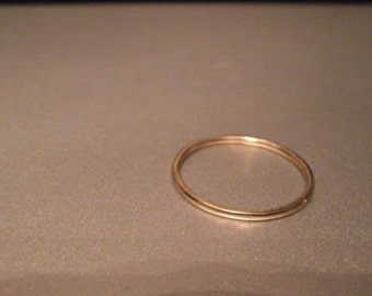 Thin 10k gold ring