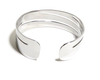 Stainless Steel Bracelet, Cuff, Metal Bracelet, Women, Men, Mirror Finished, Metalwork Bracelet, BLB 32