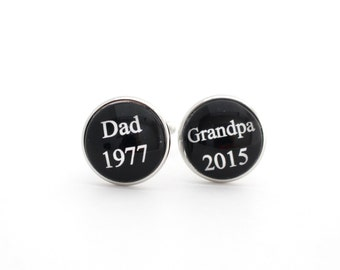 Father's Day Grandpa Grandparents Day Baby Announcement Grandparent Pregnancy Reveal to Grandparents Gifts for Grandparents Cufflink