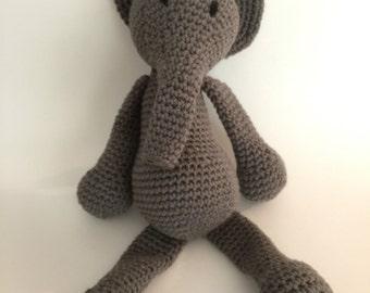 Crochet Amigurumi Elephant Plush