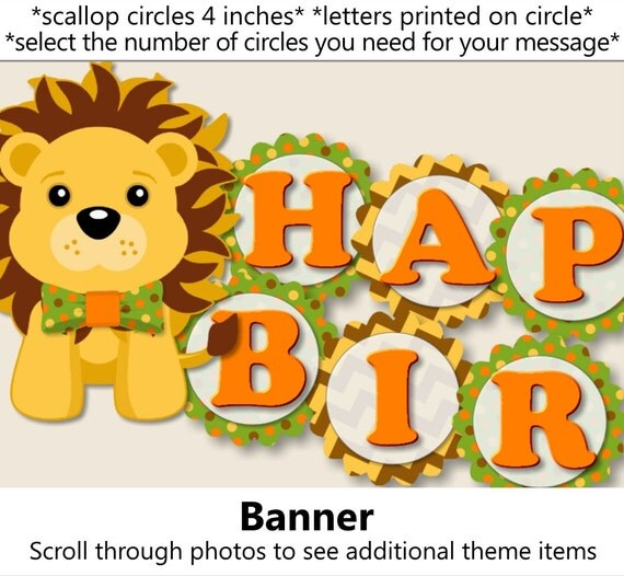 Jungle Birthday BANNER Safari Birthday Party Decorations Zoo