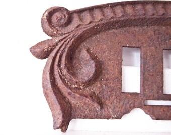 Rustic Stove Piece / Rustic Decor / Rusty Item