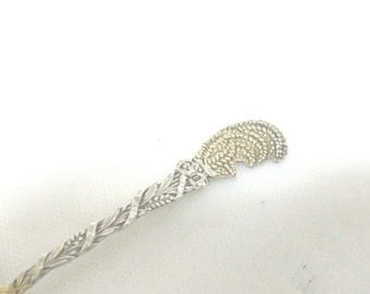 Sterling Silver Easter Wheat Spoon //
