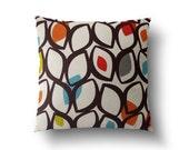 Mia & Stitch Retro Colourful Cedar Eyelets  Modern Retro Cushion Covers, Throws Pillows