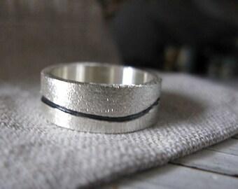 Mens Wedding Band Mens Wedding Ring Silver Wedding Band Unique Mens Wedding Band Landscape Ring Viking Wedding Ring Mens Wedding Bands