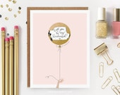 "Scratch-off ""Will You Be My Bridesmaid? / Maid of Honor?""  Write-in Invitation // Gold Foil Balloon"