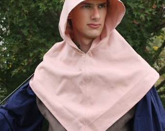 Dwarf Hood with Liripipe Light Pink Upcycled Cotton