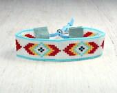 Southwestern Bracelet - Hippie Bracelet - Bohemian Bracelet - Beaded Jewelry - Rustic Bracelet - Mother's Day Gift - Women's Jewelry
