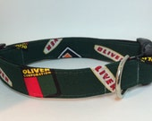 Oliver Tractor Custom Dog Collar by Collars for Canines metal clip
