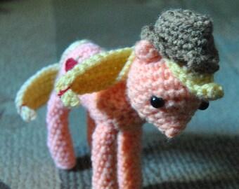 My Little Pony Applejack Inspired Doll - Crochet Amigurumi Handmade