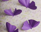 Purple Butterfly Baby Shower, Butterfly Nursery, Party Decorations, 3D Wall Butterflies