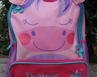 Personalized Stephen Joseph Sidekicks Backpack-UNICORN TODDLER BACKPACK