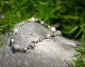 Sterling Bracelet, Pearl Bracelet, Silver Bracelet, Bracelet, Jewelry