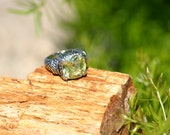 Sterling Ring, Citrine Ring, Ring, vintage ring, western ring, jewelry, Yellow