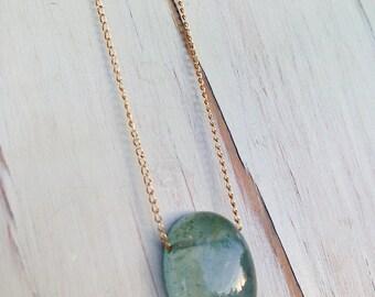 Aquamarine Necklace Aquamarine Pendant Necklace Aquamarine Jewelry Gemstone Necklace Aquamarine Jewelry