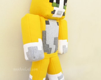 "XLarge Stampy cat plushie Stampy long nose softie Minecraft inspired doll 23""- MADE TO ORDER"