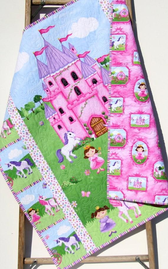 Sale Princess Baby Quilt Castle Unicorn Carriage Bedding