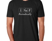 Periodically Inspired I NAP PERIODICALLY Periodic Table Men's Tee - Gift For Nap Lover (Black)