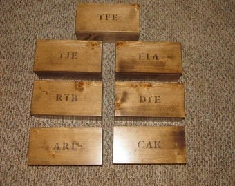 Groomsmen or Bridesmaid Boxes Personalized