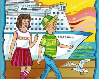 Admiral Cruises Vintage Coloring Book, C1980s