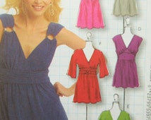 McCall's 5662 Sewing Pattern, Misses' Top Pattern, Surplice Top, Sleeve Variations, Dress Pattern, DIY Style, Bust 38 to 44, 2008 Pattern