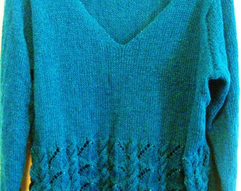 Ocean Blue Knitted Sweater