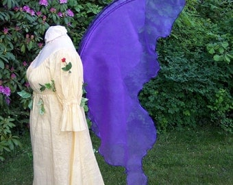 Ready Made Fairy Wings OOAK Royal COBALT BLUE Moonbeam GLIttERY Realistic adult Halloween Costume xl Fantasy elven Queen gown dress up larp