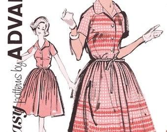 Advance 2832 Women's 60s Full Skirt Shirt Waist Dress Sewing Pattern Bust 34