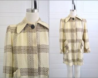1940s Plaid Coat