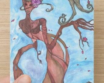 Dryad Postcard Prints 4x6 Watercolor Greek Goddess Wiccan Pagan Illustration