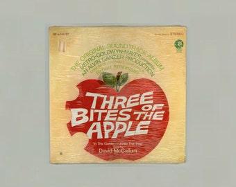 David McCallum, Tammy Grimes Three Bites of the Apple Original Movie Sound Track Album, Robert Armbruster, Vintage Vinyl Record MGM LP