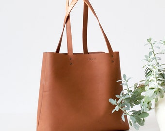 Large Brown Leather Tote bag No. LTB-101
