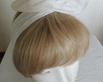 White Wire Headband, Twist Head Scarf, White Bandana, Bunny Rabbit Ears, Head Band, Hat Band, Head Wrap, Hair Tie, Hair Band, Hair Scarf