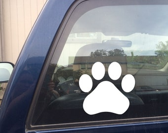 Paw Decal, Dog Paw Decal, Dog Decal, Dog Car Decal, Dog Sticker, Paw Sticker, Dog Paw Sticker, Cat Decal, Cat Paw Decal, Laptop Decal
