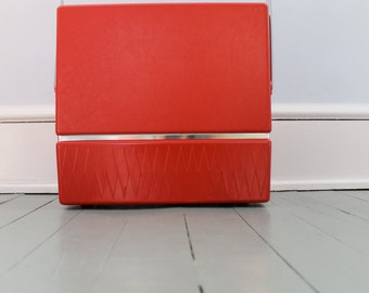Record Party... Vintage Zenith Red Plastic Record Rack and Organizer, Vinyl