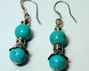 Turquoise Dangled Earrings