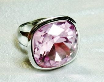 Pink Austrian Crystal