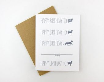 Happy Birthday To Ewe: Birthday Card