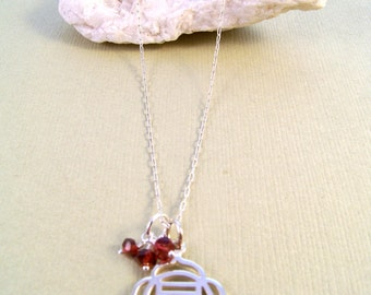 Root Chakra & Garnet Necklace-Yoga Jewelry-Zen