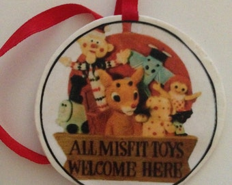 Rudolph's Island of Misfit Toys Ornament