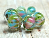 lampwork beads... SRA handmade, encased classic frits (caribbean island) set for making jewelry MaDE tO oRDer