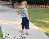 Classic knickers with vintage charm, girl fall capris girl navy pants, girl denim knickers. Fall, winter at vero's joy