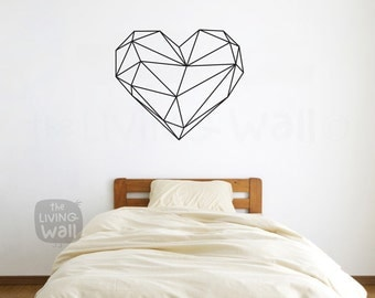 Heart Wall Decals Etsy - Vinyl wall decals australia