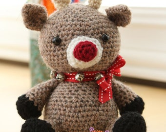 Amigurumi Crochet Pattern - Jingles the Reindeer